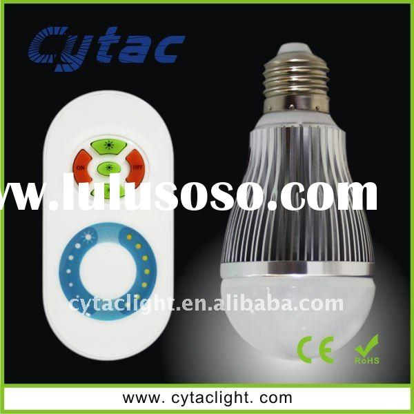6W Dimmable LED Light Bulb With Remote Controller