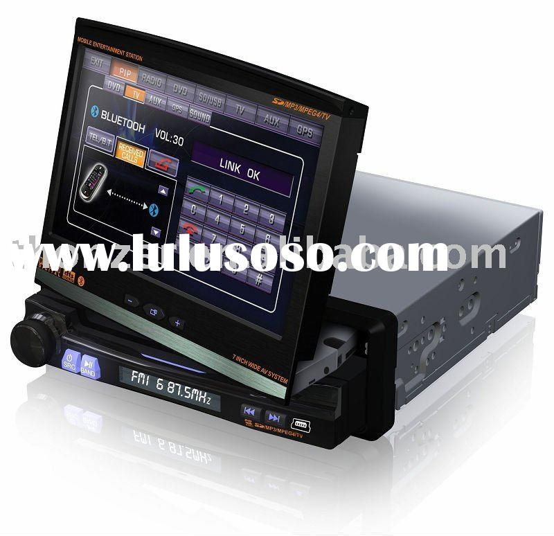 "7"" Double DIN Car GPS DVD with 7"" Screen can turn left and right in 30 degree (TZ-DI712)"