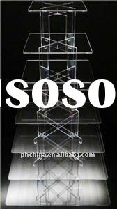 7 Tier Square Acrylic Cupcake Cake Stand / Wedding Cake Stand