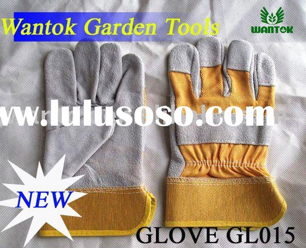 90g cow split leather work gloves