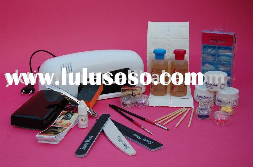 9W Nail UV Lamp+Gel Kits +Nail Art( New)