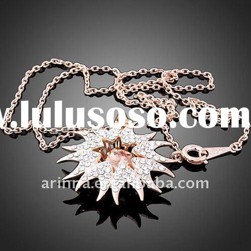 ARINNA Rose Gold Plated Fashion Women Necklace Jewelry N0392