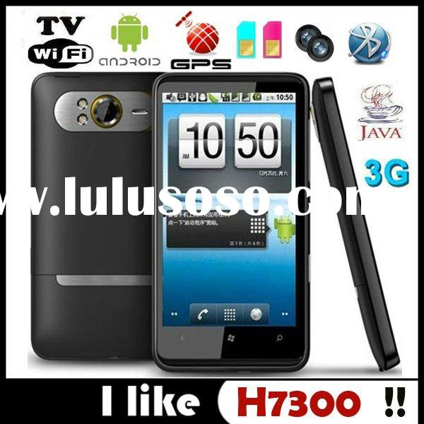 Android 2.3 WCDMA 3G 4.3 Inch Touch Screen Wifi TV Dual SIM Built-in GPS Quad Band Phone, Smartphone