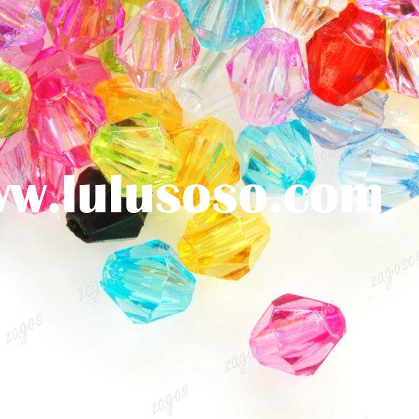 Assorted Color 4X3X3mm Acrylic Jewelry Beads AR0273