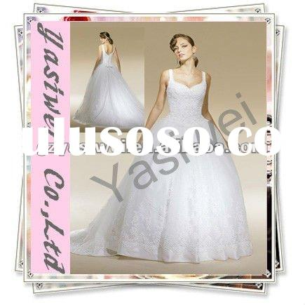 Ball Gown White Beaded Organza wedding dress/Bridal Dress 2011 YSWCOP003