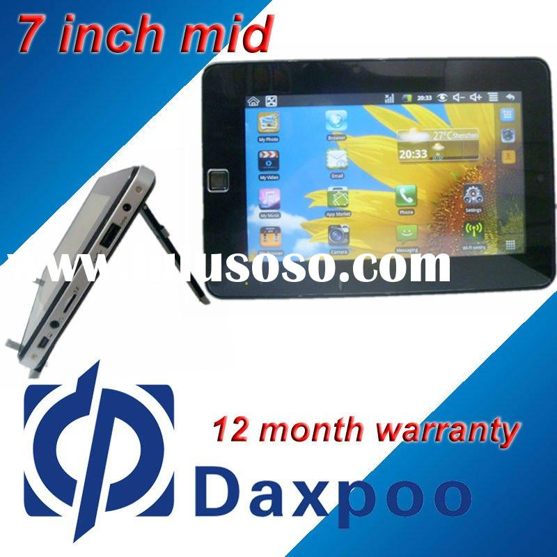 Best quality !7inch tablet pc CE ROHS Android 2.2 support Wifi,HDMI,G Sensor,Camera