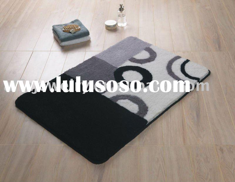 Black-Bath mat
