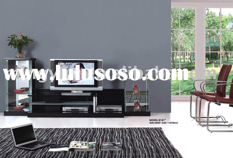 Black Simple Design Modern TV Floor Stand