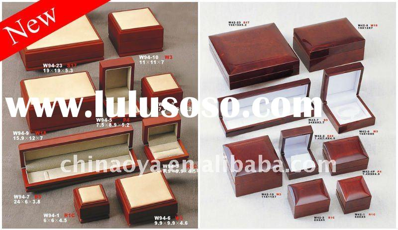 Black Solid Wood Watch & Ring Boxes