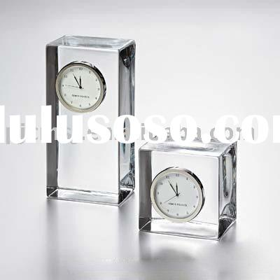 CC-023, crystal table clock,business gifts