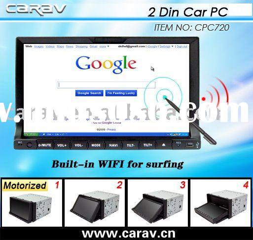 Car PC,Double din car pc, car computer with 7 inch touch screen monitor BT/3G/WIFI/GPS