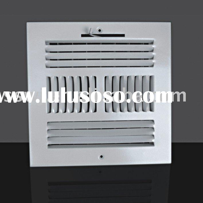 Ceiling Supply Air Register(white stamped steel register,squareness ceiling diffuser,metal grille)