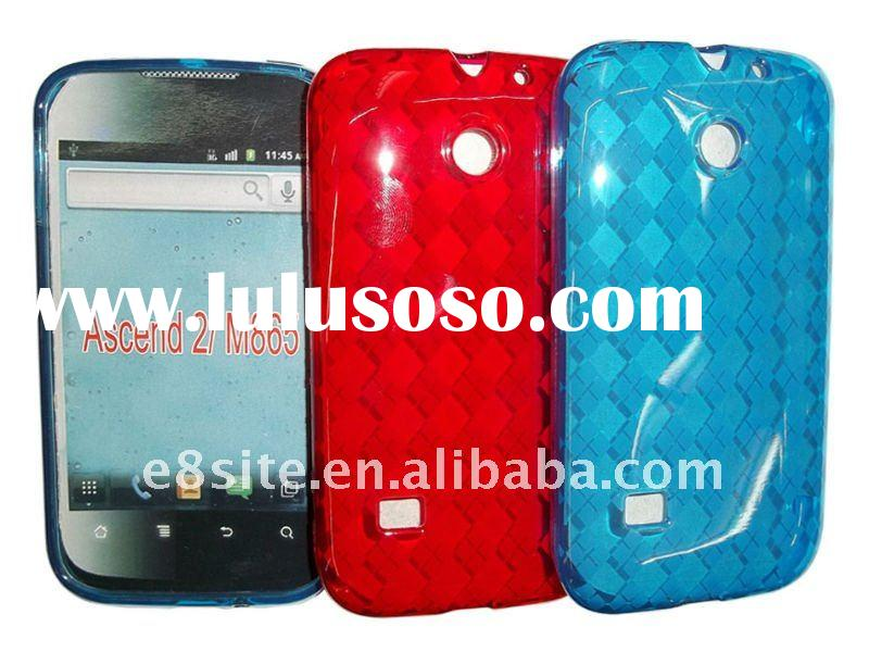 Cell Phone TPU Gel Case For Huawei Ascend 2 M865 -- Argyle Pattern