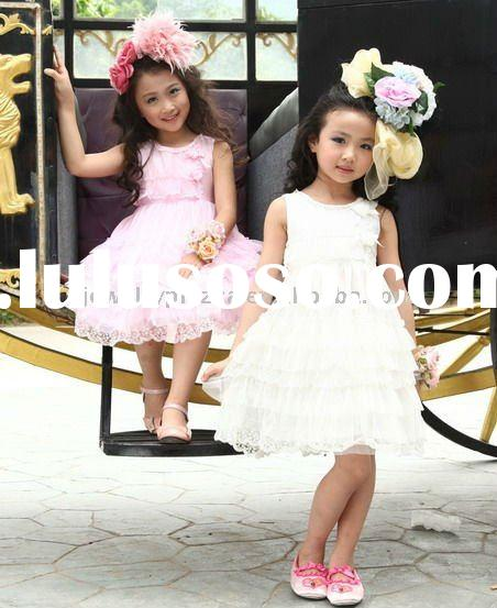 Childrens cotton clothes,2011 newest summer fashion dresses for girls -2119