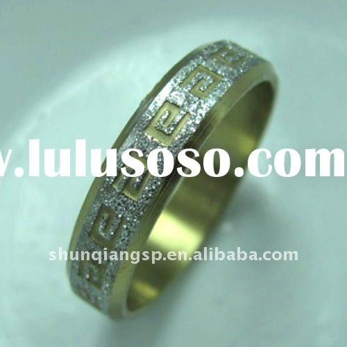 Chinese Fashion Jewelry Stainless Steel Gold Plated Rings Wedding Jewelry