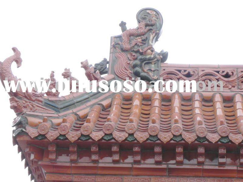 Chinese antique glazed roof tiles(Different color)