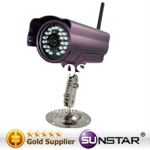 Chinese audio video equipment Wireless IP Outdoor Camera with Water-resistant15m IR Distance and CMO