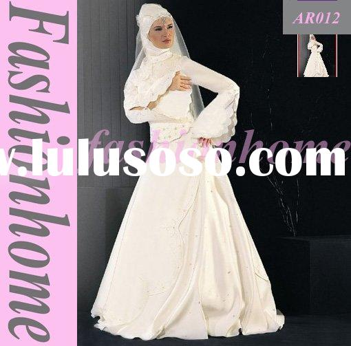 Christmas Women Dress Arabic Wedding Dress Muslim Bride Dress AR012