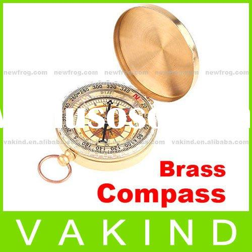 Classic Brass Pocket Watch Style Camping Compass Hiking