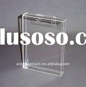 Clear Acrylic Wall Mount Sign Holder/Lucite Wall Mount File Documents Holder