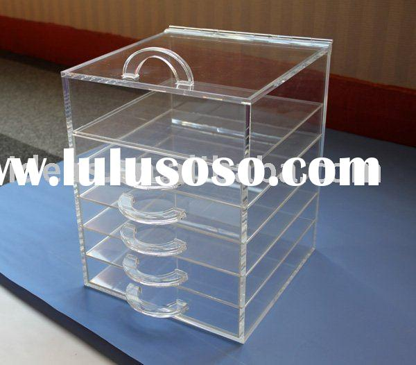 Clear acrylic cosmetic makeup organizer
