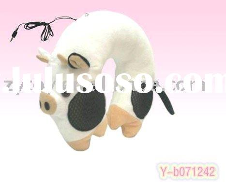 Cow shaped Neck pillow with built-in speaker