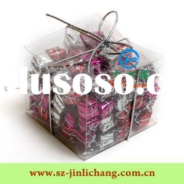 Customized clear plastic box for sweet packaging