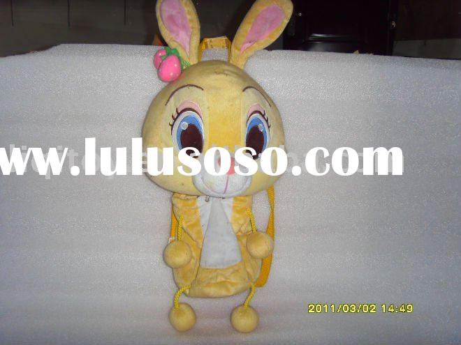 Cute baby backpack cute rabbit plush toy