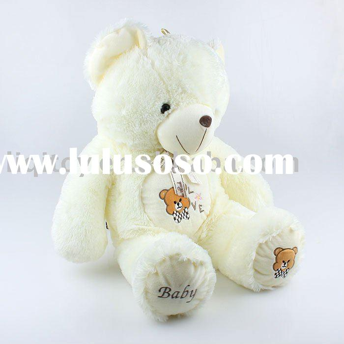 Cute white teddy bear plush toy