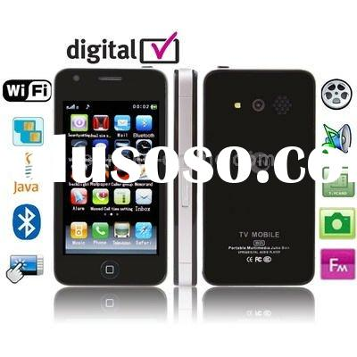 D988, DVB-T (MPEG-2/4), Wifi JAVA Bluetooth FM function Touch Screen Mobile Phone, Dual Sim cards Du