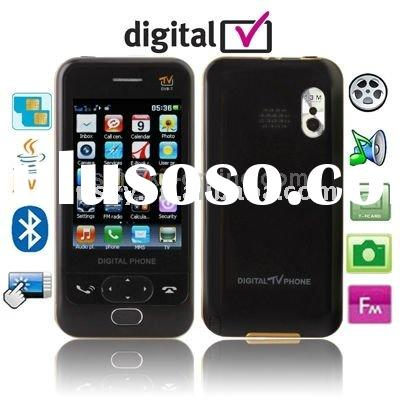 D998, DVB-T (MPEG-2), JAVA Bluetooth FM function Mobile Phone with Remote Control Slip-operation can