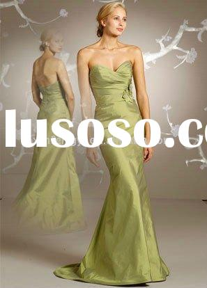 Elegant sweetheart bridesmaid gown lady couture wedding guest dresses hot sale 2011 style