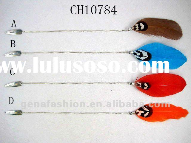 Fashion Jewelry Long Feather Hair Clip