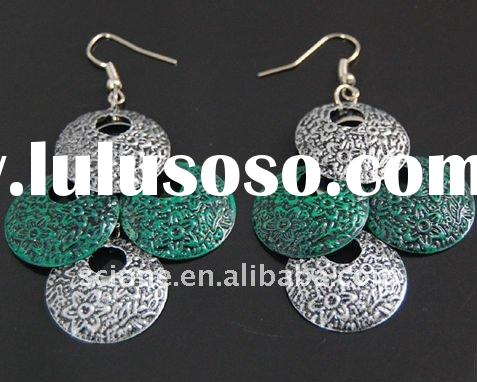 Fashion cheap jewelry 2012 chain make beaded hoop earrings