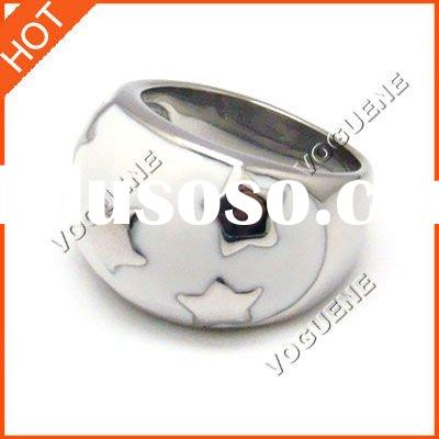 Fashion jewelry star stainless steel ring
