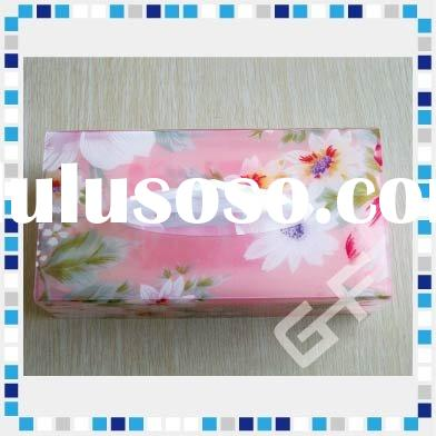 Flower Pattern Acrylic Tissue box cover