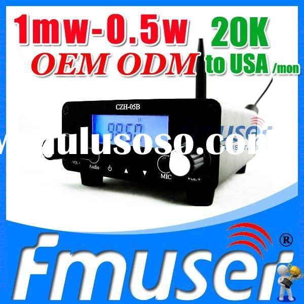 Fmuser FSN01 fm transmitter 1mw FCC wireless audio video transmitter and receivers Lanyue