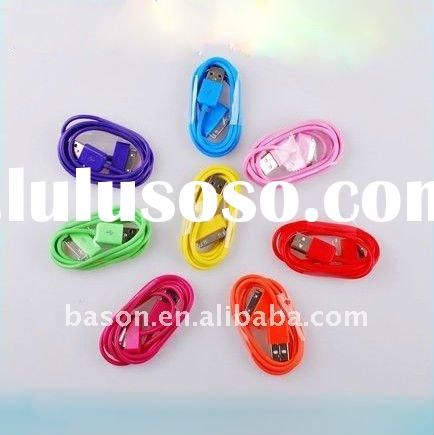 For iPhone iPod Colorful USB Data Sync Charger Cable