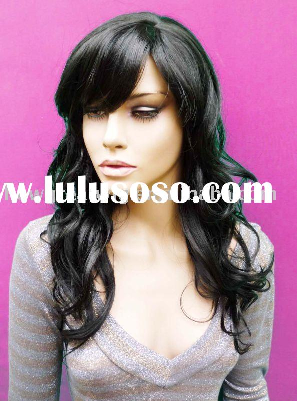 Full lace lace front wig machine made human hair wigs for women