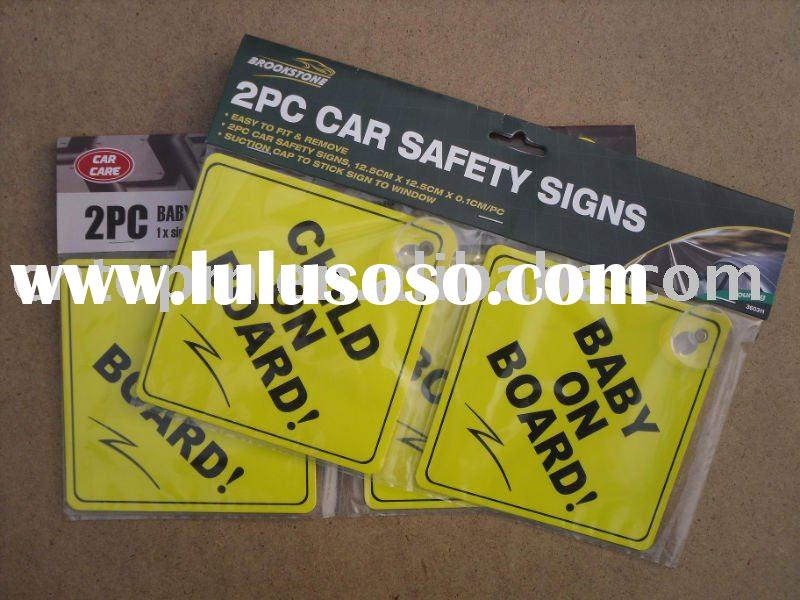 Good quality Baby on board suction cap car window sign