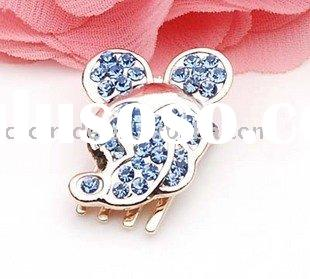 Graceful Lovely Rhinestone Mickey Mouse Hair Claws for Bang