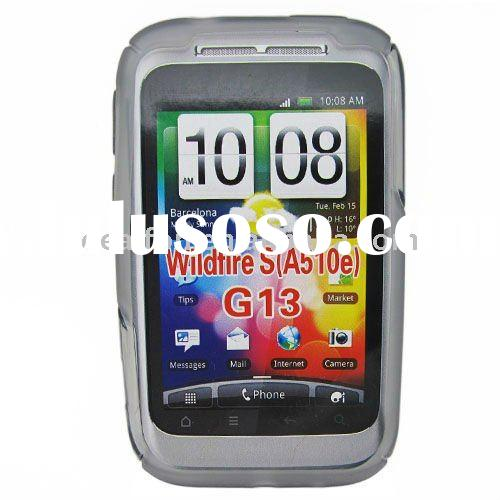 Gray TPU Gel Soft Silicone Skin Cover Case For HTC Wildfire S G13 A510e