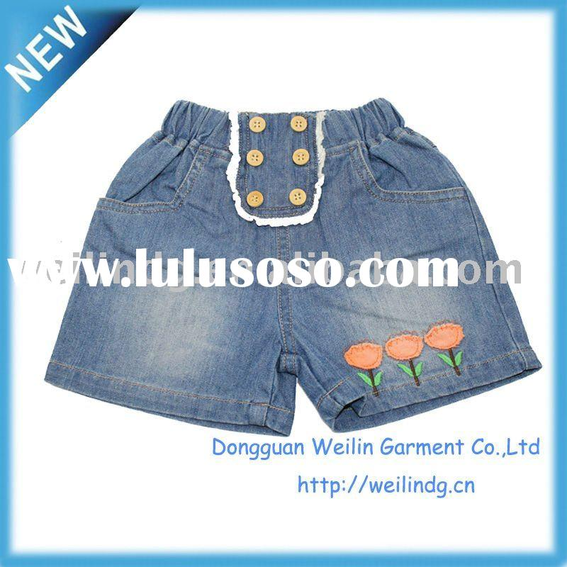 HOT! girls short jeans,child wear