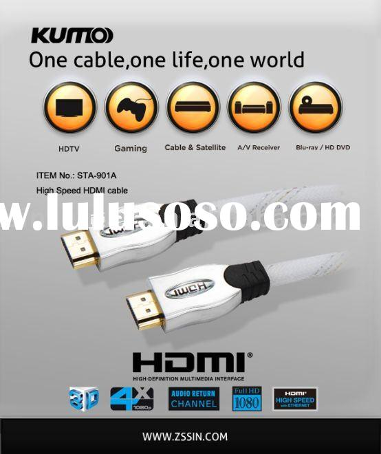 High Speed HDMI cable,with 10.2Gbps support 1080P for home theater