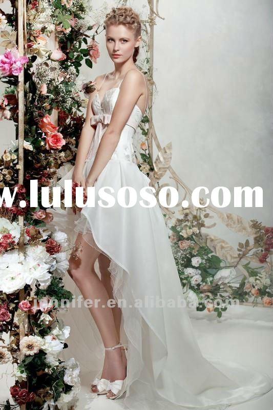 Hot Sale Romantic Front Short and Long Back Wedding Dress (bs485)