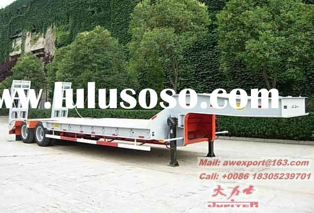 Hot Sale Two Axles 35 Tons Loading Capacity Gooseneck Low Flatbed Truck Semi Trailers Or Semi-traile