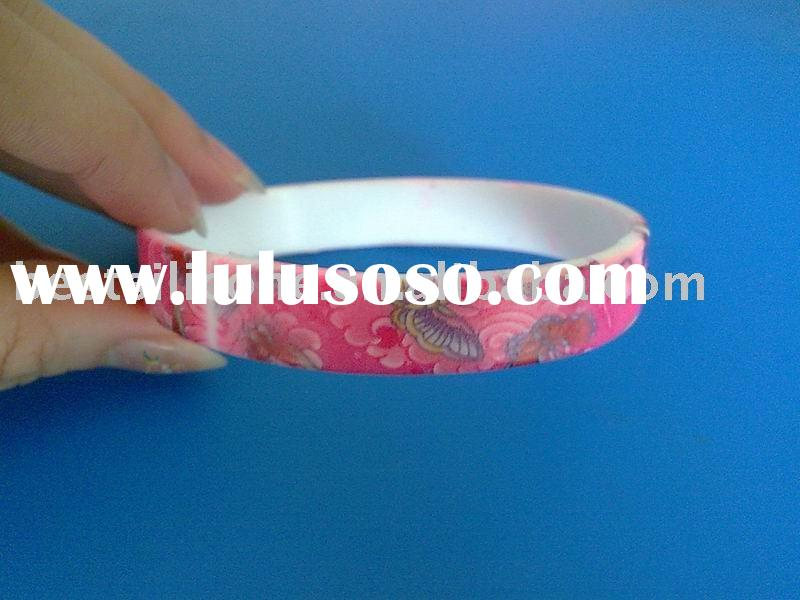 Hot promotion gift~~silicone rubber wristband with paint full-color design