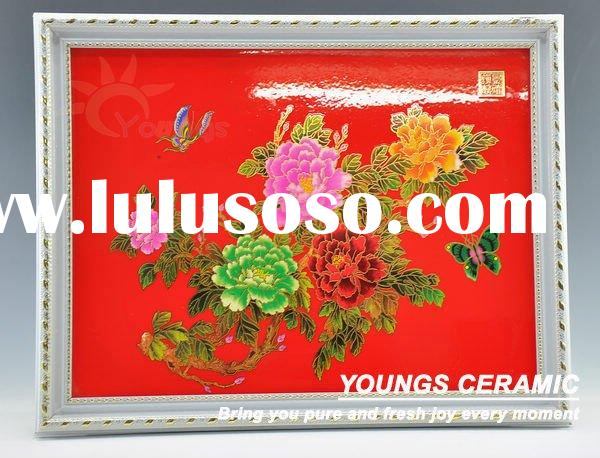Interior Red flower wall decorative panel