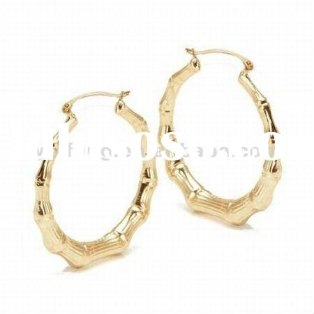 Jewelry Bamboo 14K Gold-filled Large Hoop Earrings