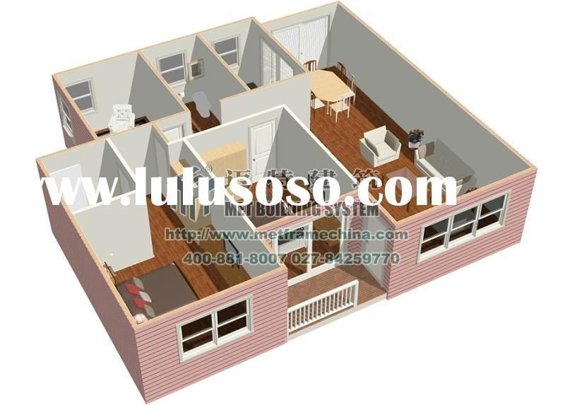 Kit Homes KH-004 100 sqm,two bed rooms,two bath rooms,one kitchen,one study room